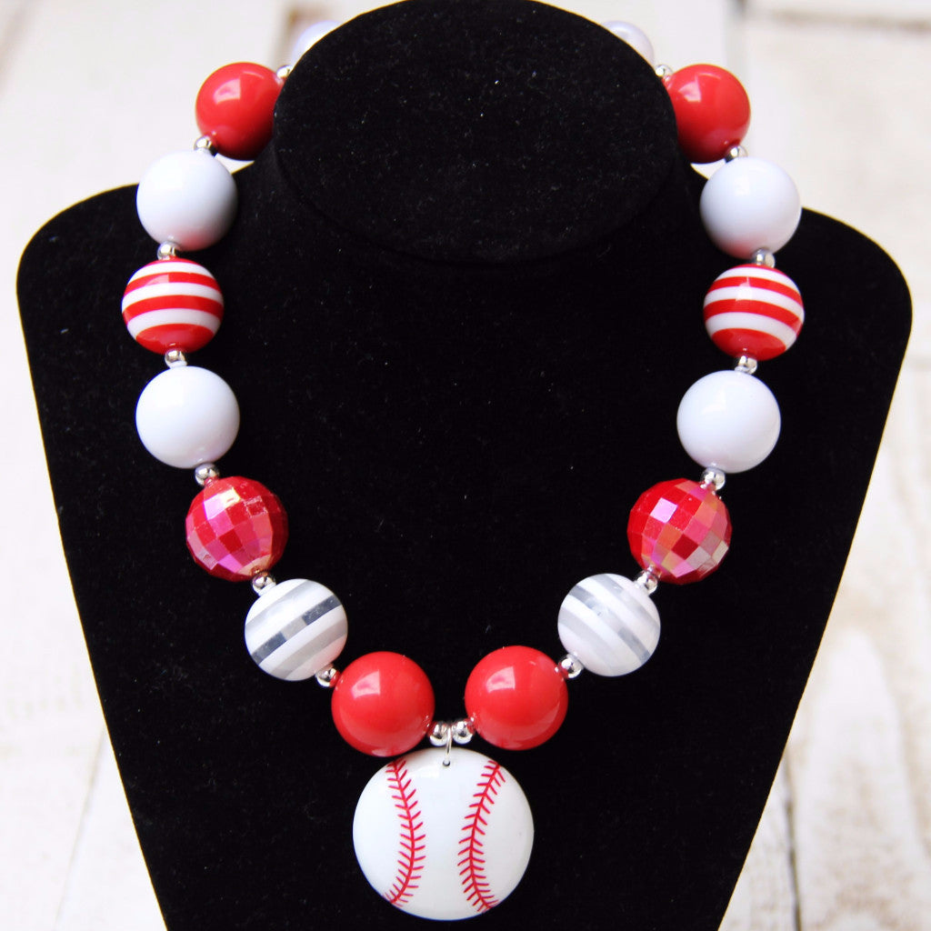 SALE!! Baseball Bubblegum Necklace-Jewelry-CKCC-Cute Kids Clothing