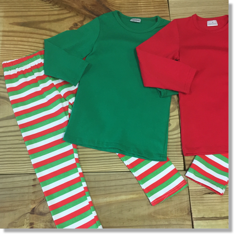 Adult Green Christmas Pajamas-Pajamas-CKCC-Cute Kids Clothing