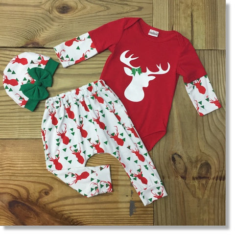 Cute Kids-Infasnt Christmas Boutique Outfit