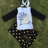 She's A Good Girl Gold Dot Outfit-Outfits & Sets-CKCC-Cute Kids Clothing