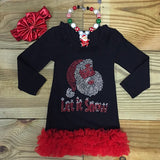 Let It Snow Santa Boutique Dress-Dresses-CKCC-Cute Kids Clothing