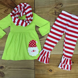 Red & Green Santa Scarf Set 3-Pc-Outfits & Sets-CKCC-Cute Kids Clothing