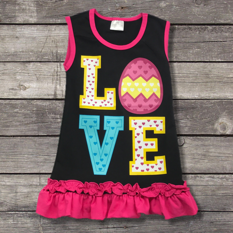 "Easter Egg ""Love"" Dress-Outfits & Sets-CKCC-Cute Kids Clothing"