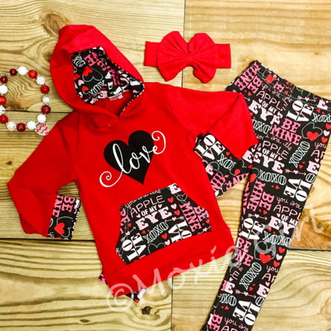 """Love"" Hoodie Outfit-Girl Outfit-CKCC-Cute Kids Clothing"