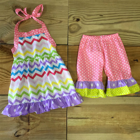 Chevron & Polka Dot Short Outfit Wholesale Lot-Outfits & Sets-CKCC-Cute Kids Clothing