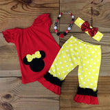 Minnie Mouse Polka Dot Capri Set-Outfits & Sets-CKCC-Cute Kids Clothing