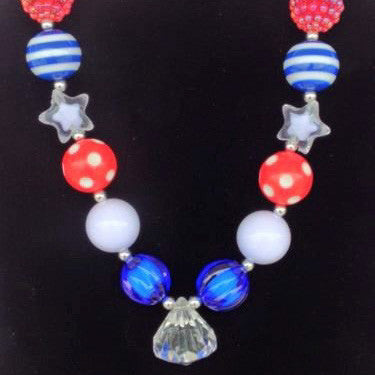 Cute Kids Clothing Co-July 4th Chunky Necklace