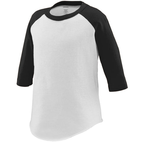 Toddler Blank Raglan T-Shirt-Blank T-Shirts-Agusta Sportswear-Cute Kids Clothing