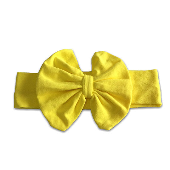 Yellow Big Bow Headband-Headband-CKCC-Cute Kids Clothing