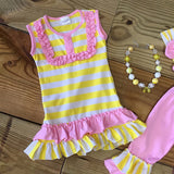 Yellow Striped Short Outfit Wholesale Lot-Outfits & Sets-CKCC-Cute Kids Clothing