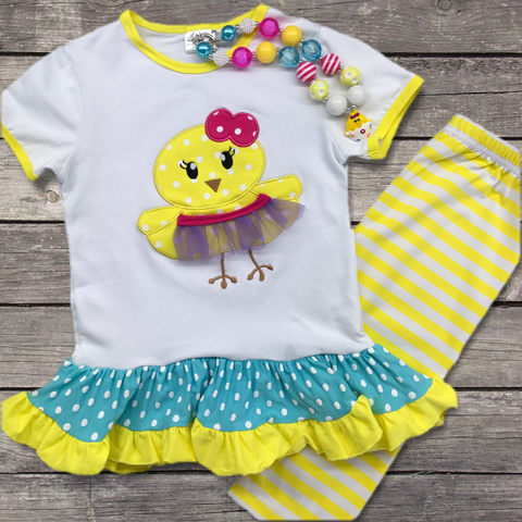 Easter Chick Tutu Outfit-Outfits & Sets-CKCC-Cute Kids Clothing