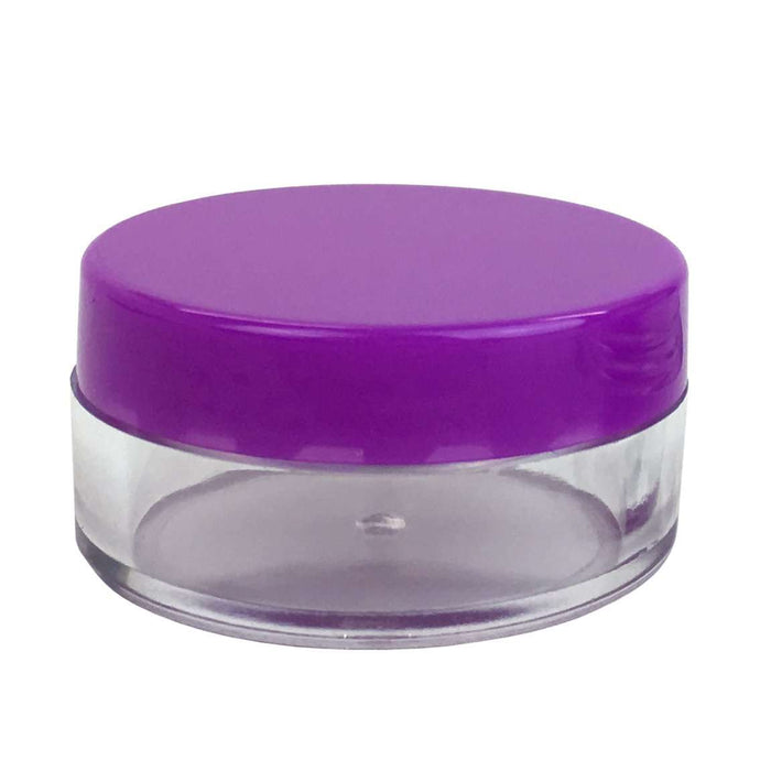 10ml Clear Plastic Jar w/ Purple Cap - Your Oil Tools