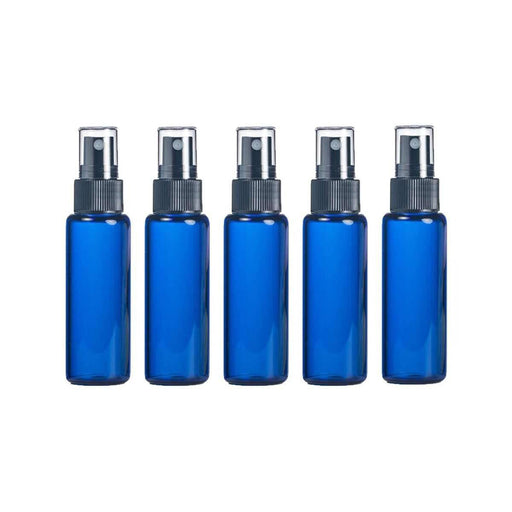 10 ml Blue Glass Vial w/ Black Fine Mist Tops (Pack of 5) - Your Oil Tools