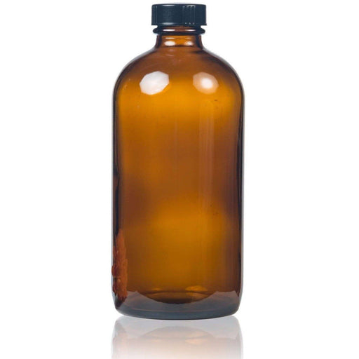16 oz Amber Glass Bottle w/ Storage Cap - Your Oil Tools
