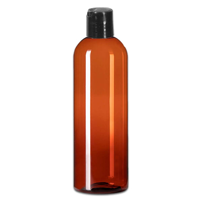 16 oz Amber Plastic Bottle w/ Black Disc Top - Your Oil Tools