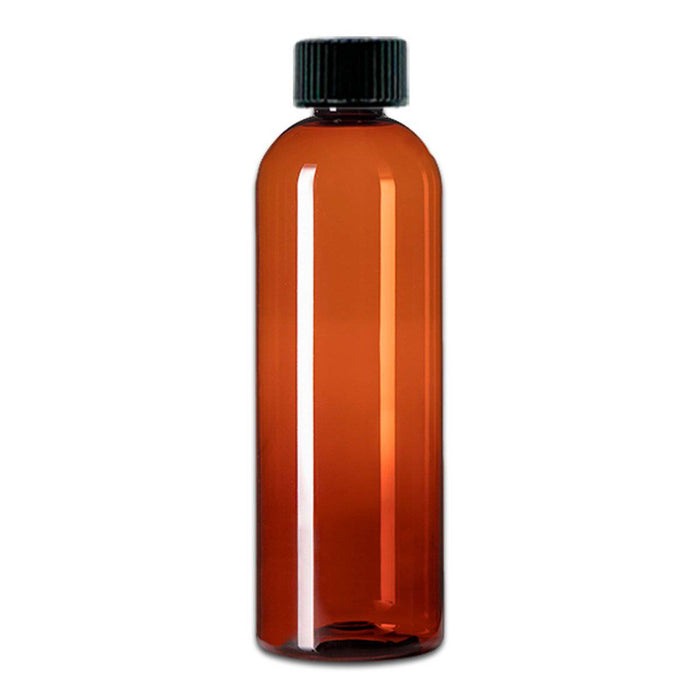 16 oz Amber Plastic Bottle w/ Storage Cap - Your Oil Tools