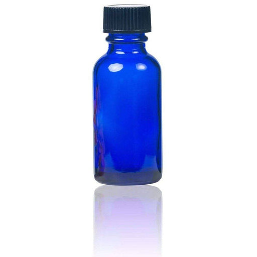 1 oz Blue Glass Bottle w/ Storage Cap - Your Oil Tools