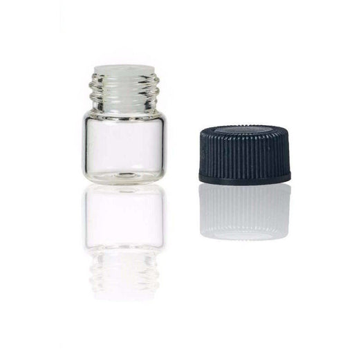 1 ml Clear Glass Vial w/ Orifice Reducer (Flat of 144) - Your Oil Tools