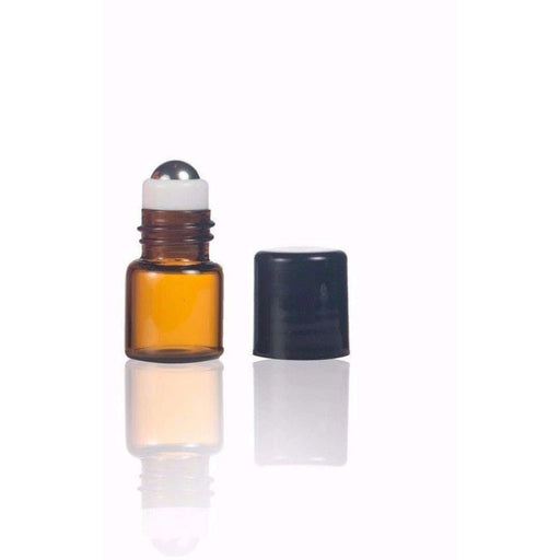 1 ml Amber Sample Vial w/ Stainless Roller (Pack of 5) - Your Oil Tools