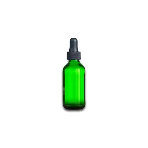 1 oz Green Glass Bottle w/ Dropper - Your Oil Tools