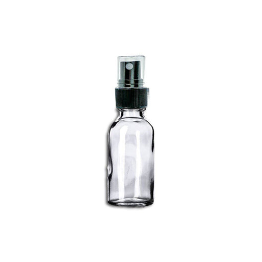 1 oz Clear Glass Bottle w/ Fine Mist Top - Your Oil Tools