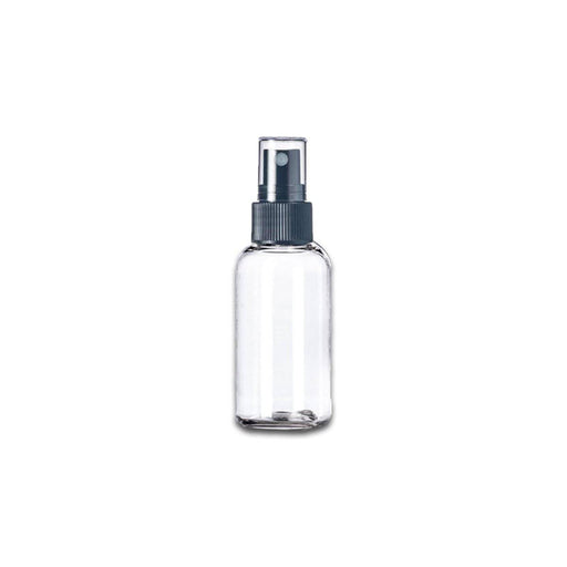 1 oz Clear Plastic Boston Round Bottle w/ Fine Mist Top - Your Oil Tools