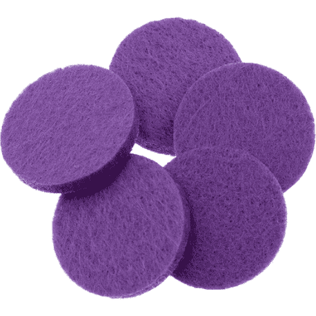Purple Round Replacement Pads (Pack of 10)