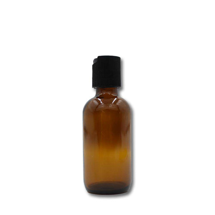 2 oz Amber Glass Bottle w/ Black Disc Top - Your Oil Tools