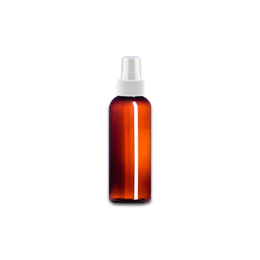 2 oz Amber Plastic Bottle w/ White Fine Mist Top - Your Oil Tools