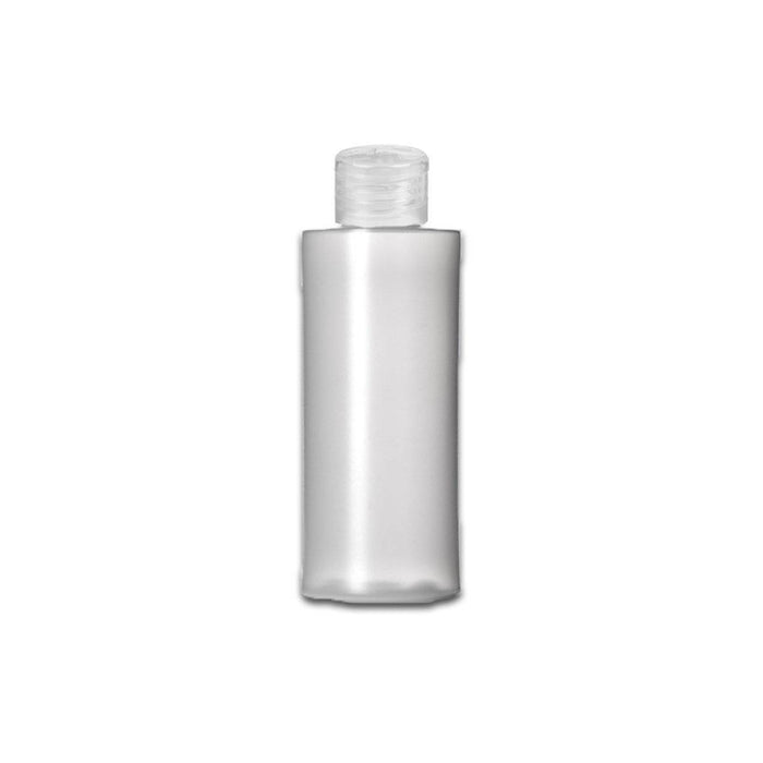 2 oz HDPE Clear Plastic Bottle w/ Clear Flip Top - Your Oil Tools