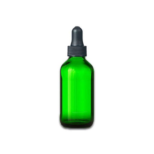 2 oz Green Glass Bottle w/ Dropper - Your Oil Tools