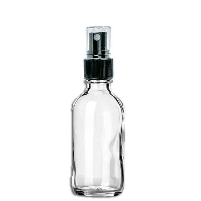 2 oz Clear Glass Bottle w/ Fine Mist Top - Your Oil Tools