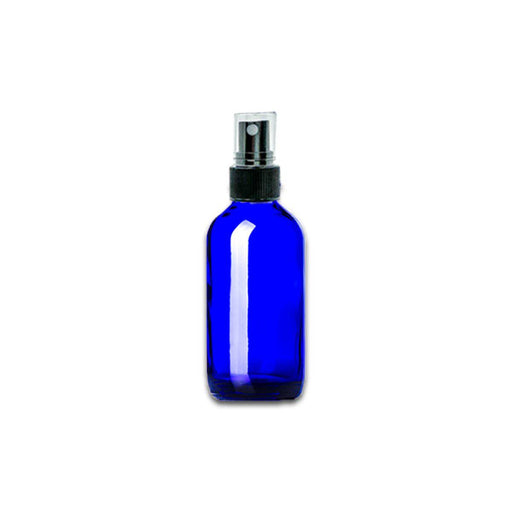 2 oz Blue Glass Bottle w/ Fine Mist Top - Your Oil Tools