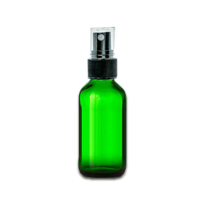 2 oz Green Glass Bottle w/ Fine Mist Top - Your Oil Tools