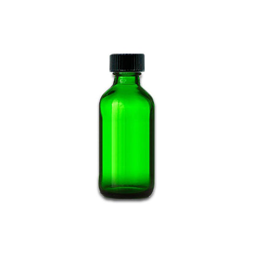 2 oz Green Glass Bottle w/ Storage Cap - Your Oil Tools