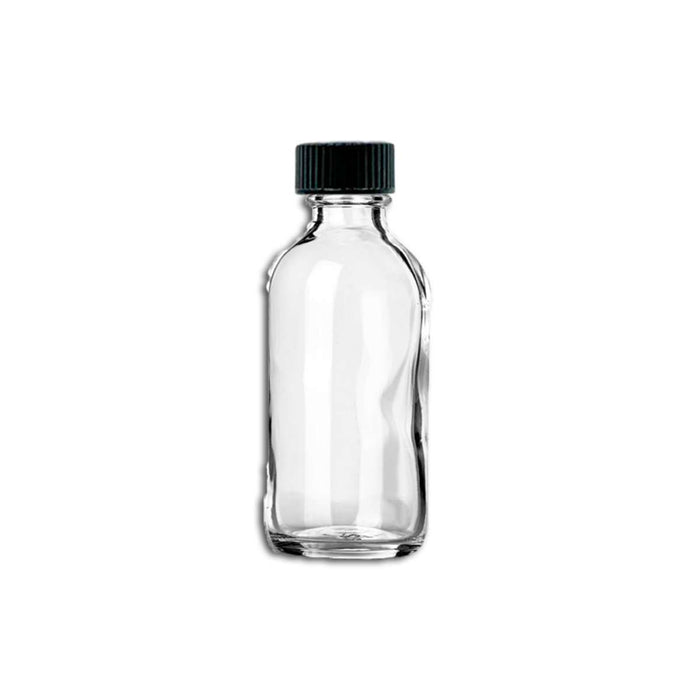 2 oz Clear Glass Bottle w/ Storage Cap - Your Oil Tools