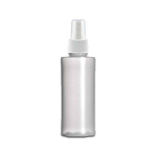 2 oz HDPE Clear Plastic Bottle w/ White Fine Mist Top - Your Oil Tools