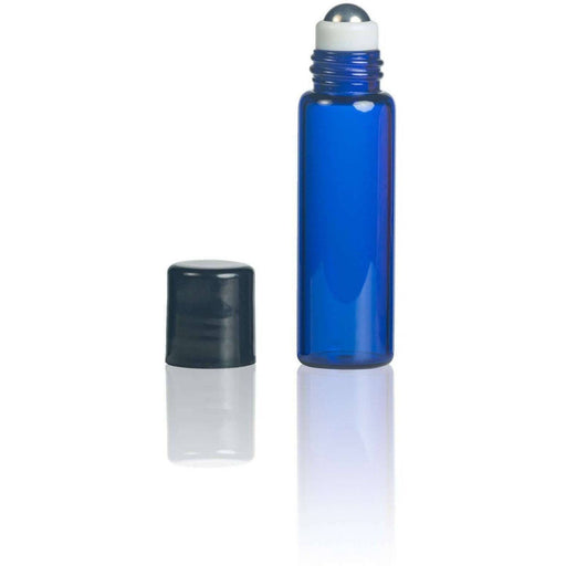 5 ml Blue Glass Vial w/ Stainless Roller (Pack of 5) - Your Oil Tools