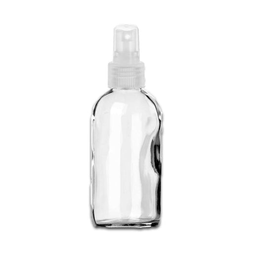 4 oz Clear Glass Bottle w/ Natural Clear Fine Mist Top - Your Oil Tools