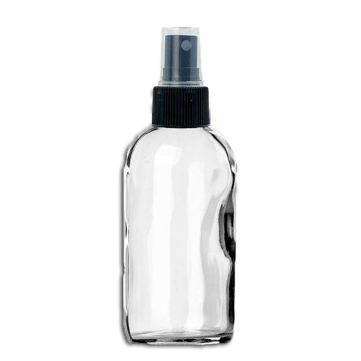 4 oz Clear Glass Bottle w/ Fine Mist Top - Your Oil Tools