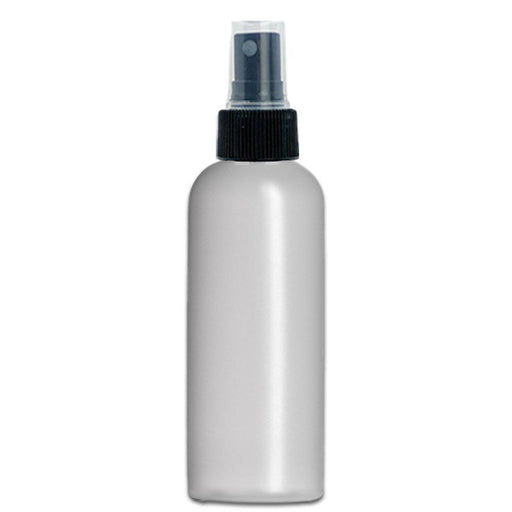 4 oz Natural-Colored HDPE imperial round bottle w/ Fine Mist Top - Your Oil Tools