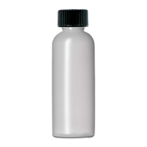4 oz Natural-Colored HDPE imperial round bottle w/ Storage Cap - Your Oil Tools