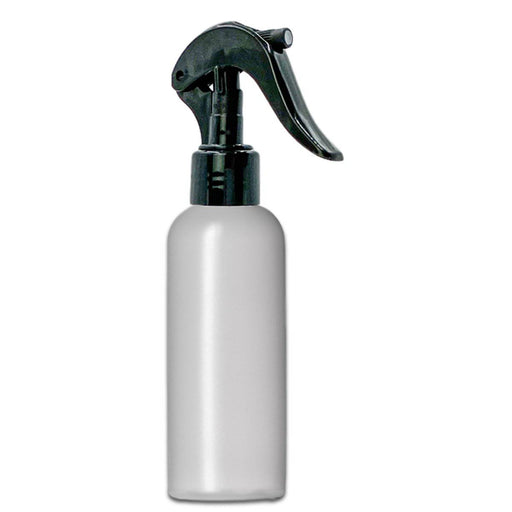 4 oz Natural-Colored HDPE imperial round bottle w/ Trigger Sprayer - Your Oil Tools