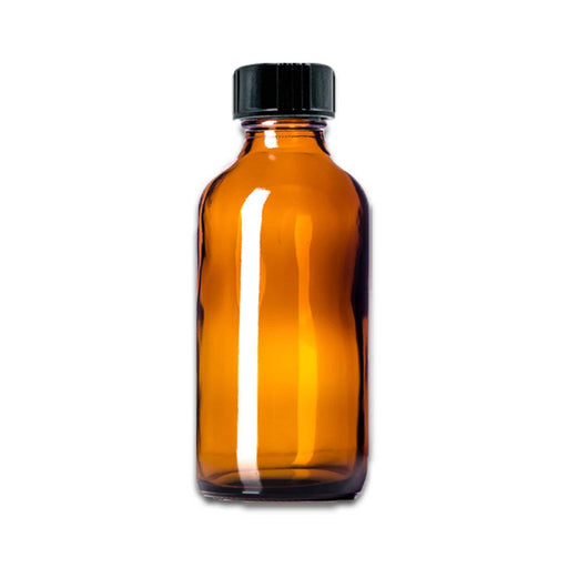 4 oz Amber Glass Bottle w/ Storage Cap - Your Oil Tools