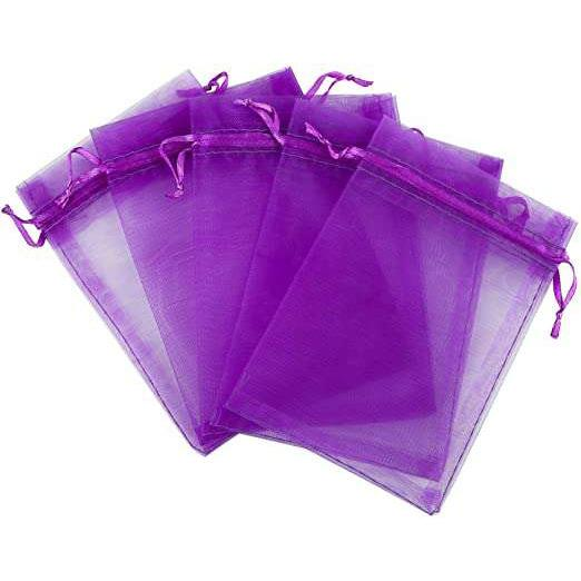 "Purple Organza Bags 4""x6""(Pack of 10) - Your Oil Tools"
