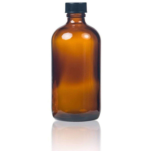 8 oz Amber Glass Bottle w/ Storage Cap - Your Oil Tools