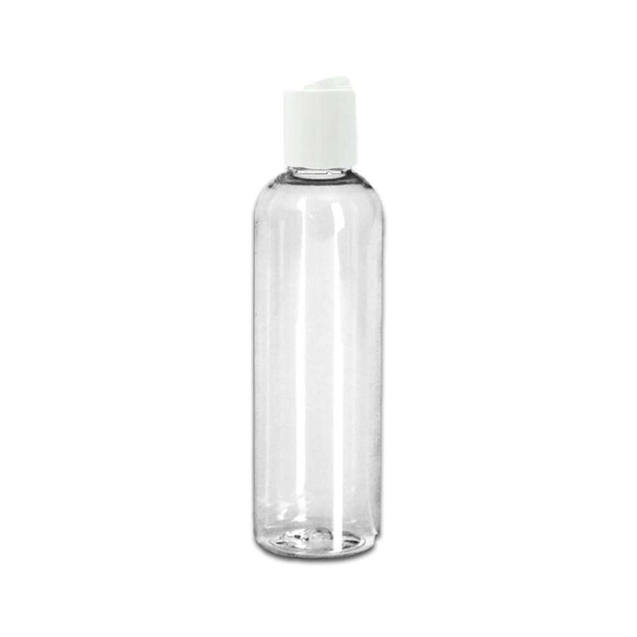 8 oz Clear Plastic Bottle w/ White Disc Top - Your Oil Tools