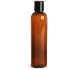 8 oz Amber Plastic Bottle w/ Black Disc Top - Your Oil Tools