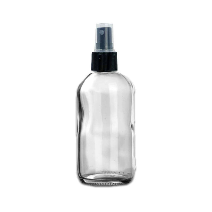 8 oz Clear Glass Bottle w/ Fine Mist Top - Your Oil Tools