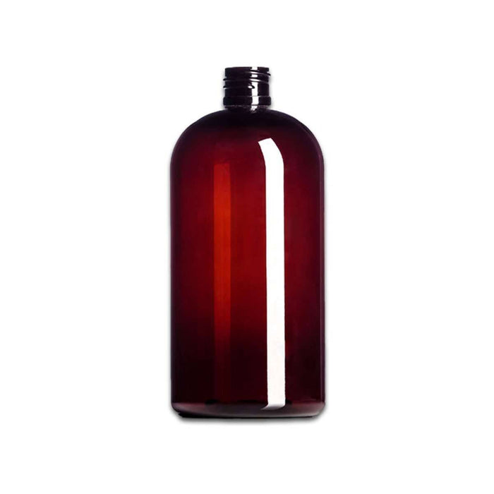 8 oz Amber Plastic Boston Bottle (caps NOT included) - Your Oil Tools